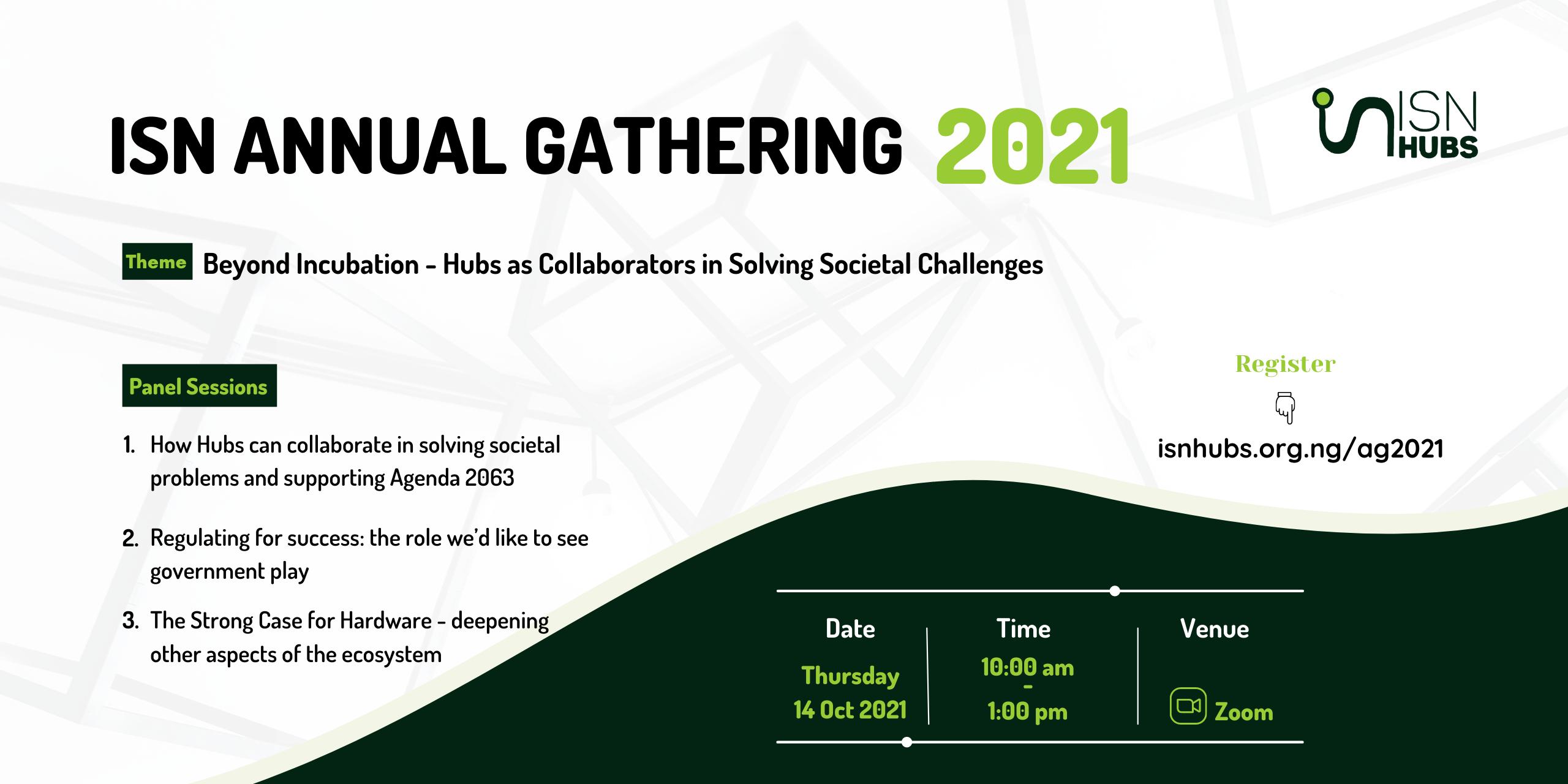 Annual Gathering Event 2021 - isnhubs